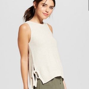 Universal Threads Sweater Tank with Side Ties